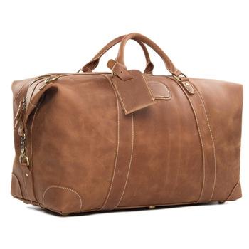 Custom Retro Top Grain Genuine Designer Leather Duffle Bag Holdall .