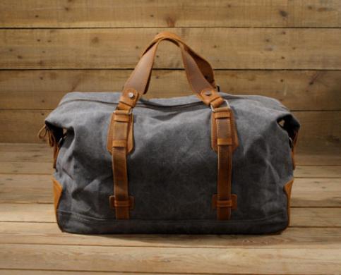 Waxed Canvas Duffle Bag / Weekend Bag / Duffel Bag Men / Men .