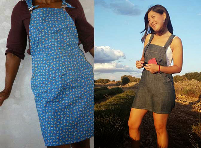 Turia dungarees: pinafore dress variation – Pauline Ali