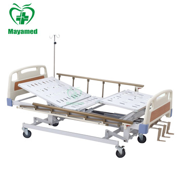 My-r008 New Design Hospital Bed Three Cranks Electric Foldable .