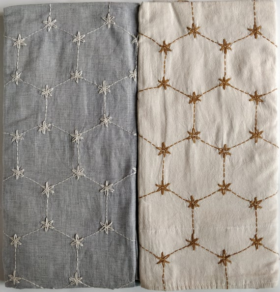 Made to Order Curtain panels Embroidered Curtains Drapes | Et