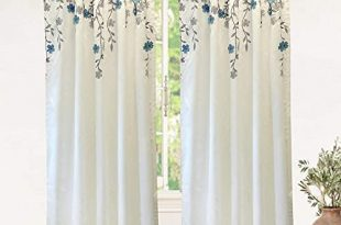 Embroidered Curtains: Amazon.c