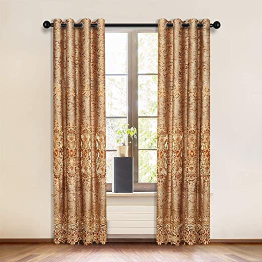 Amazon.com: ELKCA European Embroidered Curtains for Living Room .