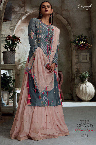 Trendy Heavy Embroidered Salwar suit at Rs 4783/piece .