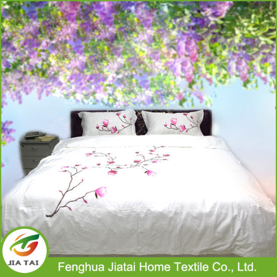 China Custom Design Hand Embroidery Latest Bed Sheet Designs .