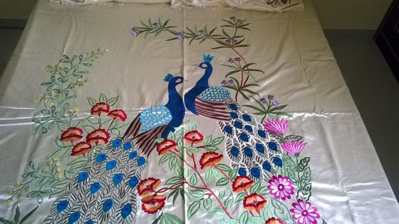 Machine Embroidered Bed Sheet – 1001 Croch