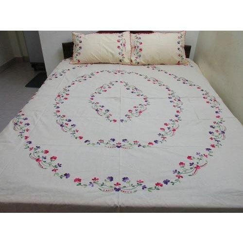 Cotton Embroidery Designer Bed Sheet, Rs 1495 /set Unique Crafts .