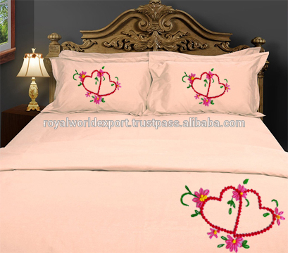 India China Wholesale High Quality Bedsheets Embroidered .