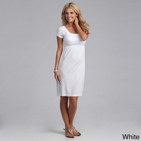 Shop Tabeez Women's Gauze Empire Waist Dress - Overstock - 81043