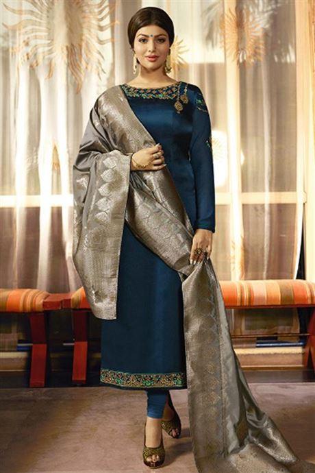 Ladies Ethnic Traditional Wear Long Salwar Kameez Wholesale .