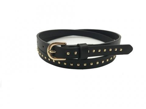 Factory Direct China Fashion Gold Rivet Fancy Ladies PU Belts .