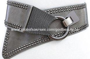 Fancy Ladies Corset Wide Black Elastic Belts, Alloy Accessory .