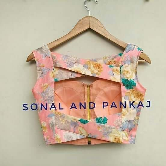 Fancy Back Side Blouse Designs By Designer Sonal and Pankaj - K4 .