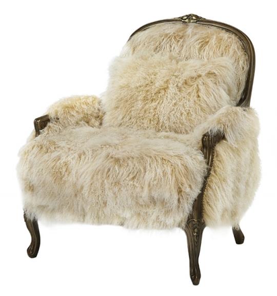 Massoud Fancy Sheepskin Accent Chair: Western Passi