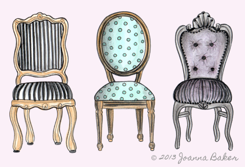 Fancy Chairs… | Joanna Baker : Fashion & Lifestyle Illustratio