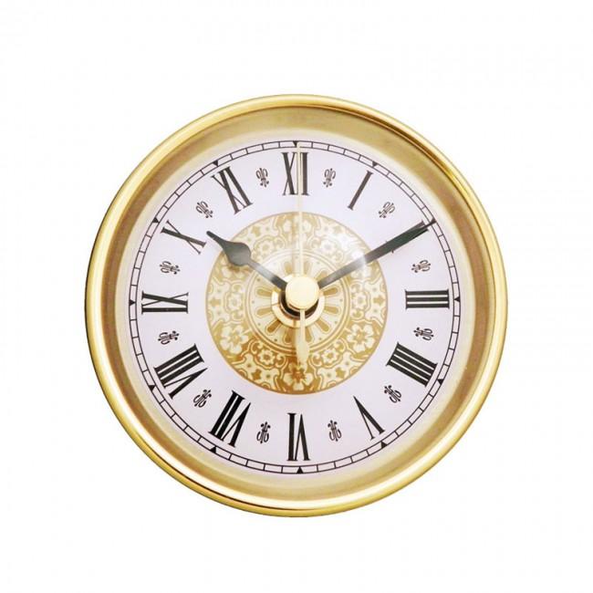 """3 1/2"""" Fancy Clock Insert with Gold Bezel   Klock"""