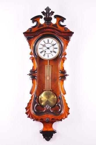 Fantastic Antique Carl Wertner Pendulum Wall Clock Approx 1890 .