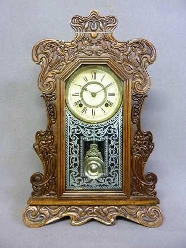 Circa 1890's Signed Ansonia Clock Co Fancy Clock - h | Fancy clock .