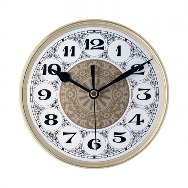 """5 7/8"""" Fancy Clock Insert with Gold Bezel   Klock"""