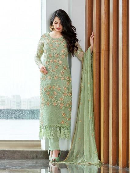 Green Fancy Multi Casual Pakistani Salwar Kame