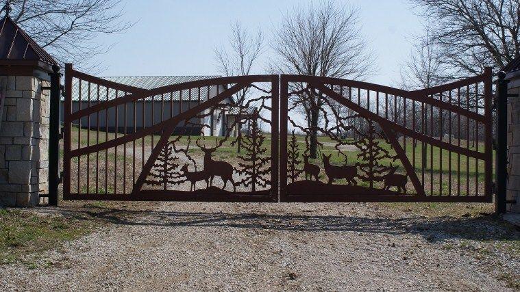 Beautiful Driveway gates, Wrought Iron Gates, custom driveway gate .