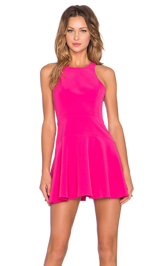 NBD Tucked In Fit & Flare Dress in Pink | REVOL