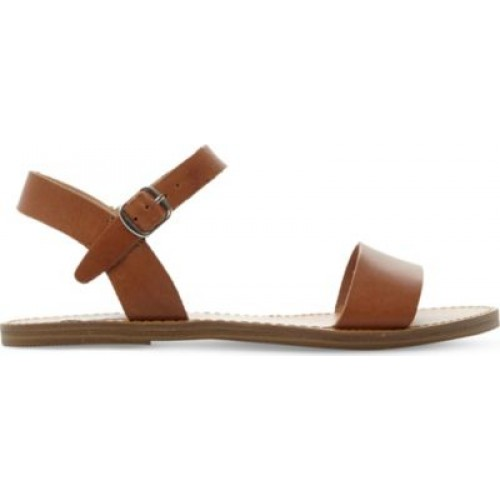 STEVE MADDEN Kondi faux-leather sandals Women's Flat Sandals .