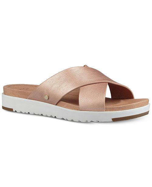 UGG® Women's Kari Slide Flat Sandals & Reviews - Sandals & Flip .