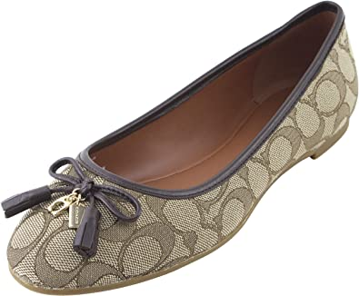 Amazon.com | Coach Women's Bennie Signature Jacqueline Ballet Flat .