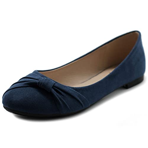 Navy Blue Flat Shoes: Amazon.c