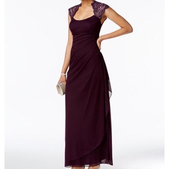 Lord & Taylor Dresses | Dark Purple Floor Length Dress | Poshma