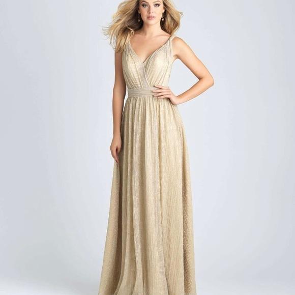 Dresses | Gold Floor Length Dress | Poshma