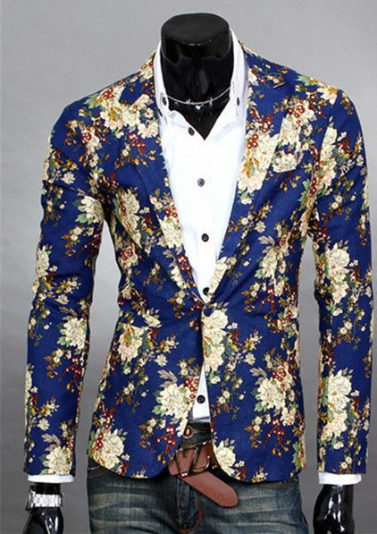Floral Design Blazer | Mens fashion suits, Mens floral blazer .