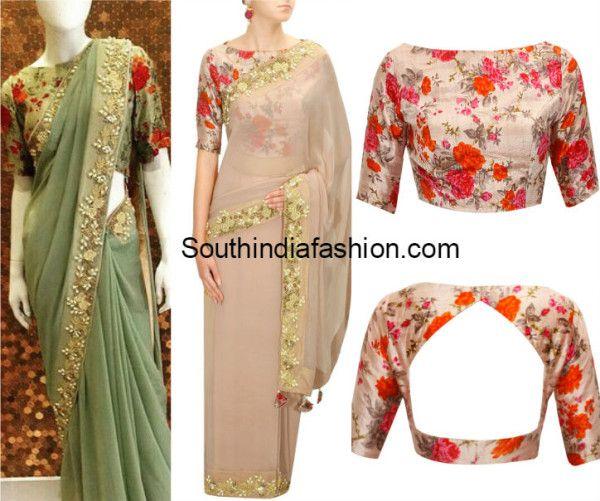 Floral Blouse Designs