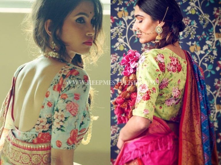 This is Why Floral Blouses Are So Perfect for Any Saree! (With .