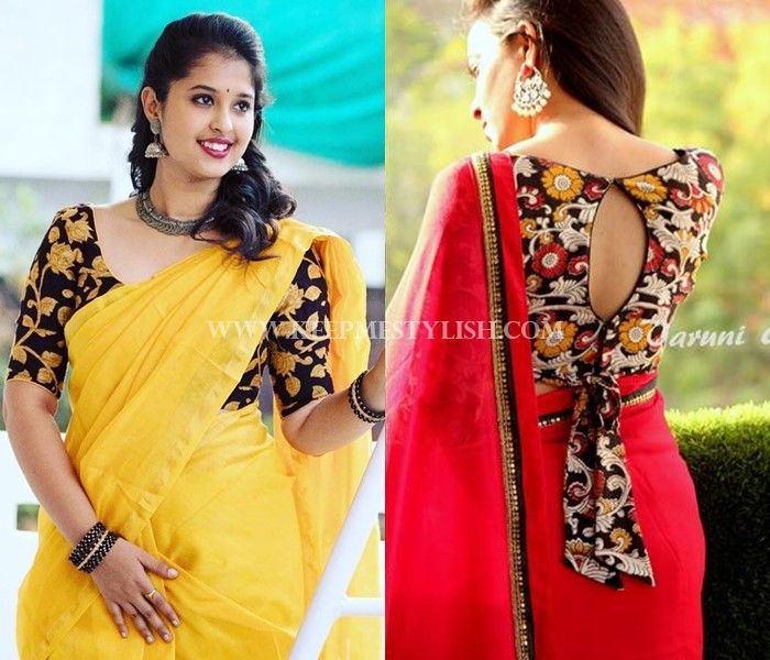 floral-blouse-designs-for-sarees (9) • Keep Me Styli