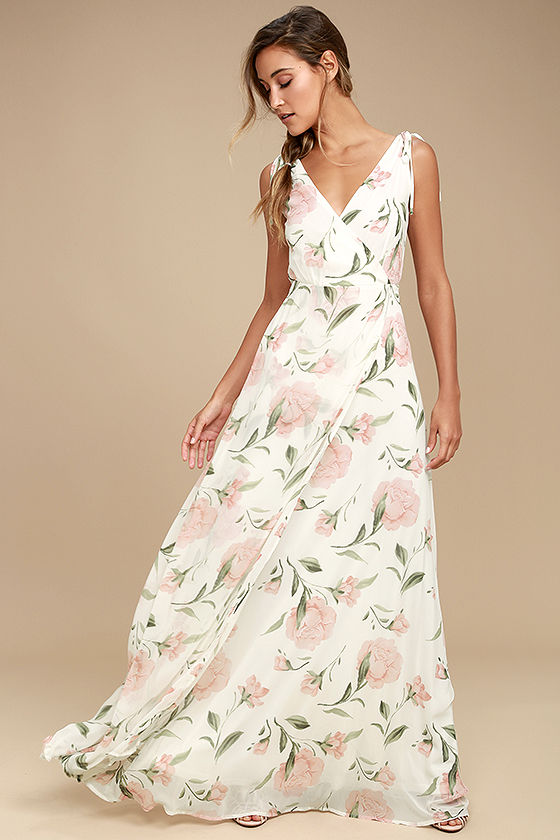 Romantic Possibilities White Floral Print Maxi Dress in 2020 .