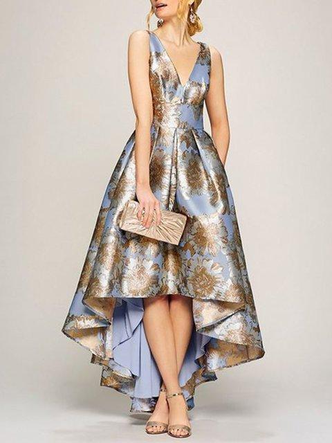 Stylewe Sundress Floral Dresses Prom A-Line V Neck Sleeveless .