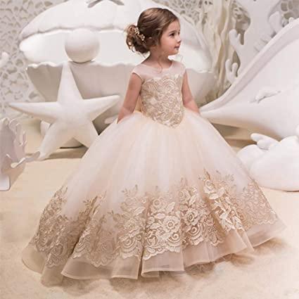 Amazon.com: CJJC Flower Girl Dresses Fashion Elegant Kids Lace .