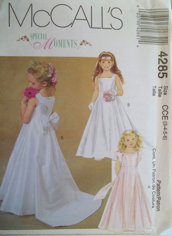 Flower Girl Dress McCall's 4285 Sewing Pattern by WitsEndDesign .
