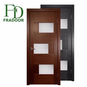 Guangzhou Factory Price Decorative Glass Doors Interior Flush Door .