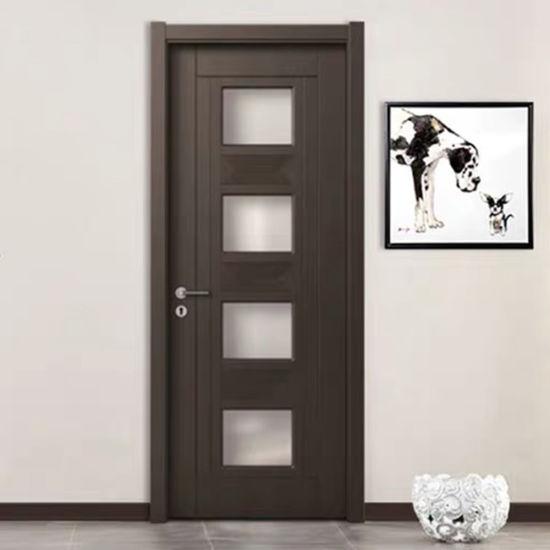 China Classic Flush Door Design Bathroom PVC Plastic Door Bathroom .
