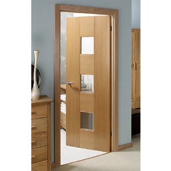 Flush door design with glass interior veneer wood door with door .