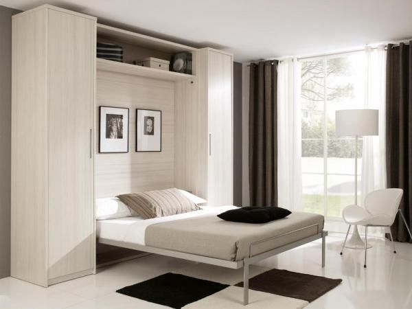 Fold-Down Double or King Size Wall Bed with Optional Wardrobes .