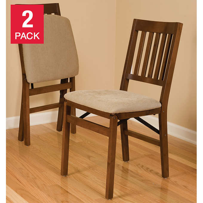 Stakmore Solid Wood Folding Chair, Fruitwood Finish, 2