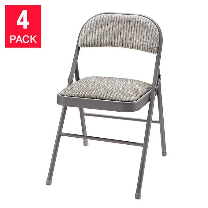 Meco Upholstered Folding Chair, 4-Pa