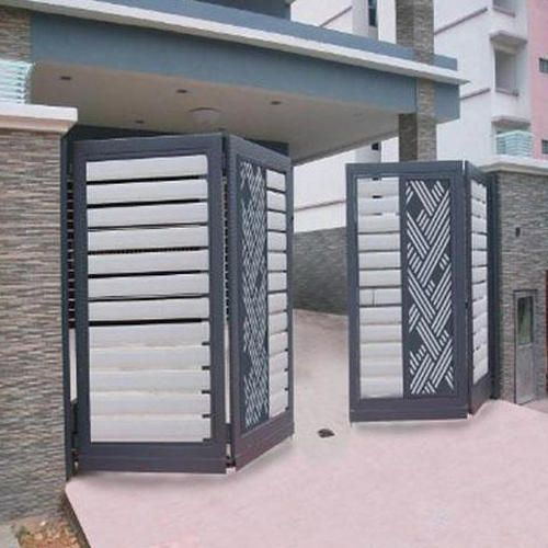 Sliding Folding Gate (With images) | Door gate design, House gate .