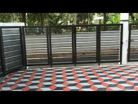 Folding Sliding Gate - YouTube (Dengan gambar)   Pintu gerbang .