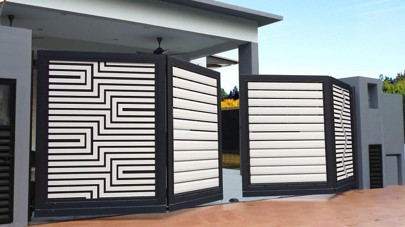 9 Modern Folding Gate Designs With Pictures In Ind