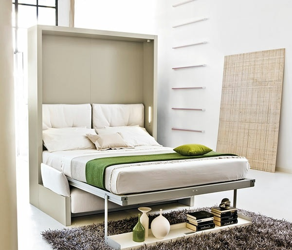 Wall cabinet with folding bed – living ideas for practical wall .